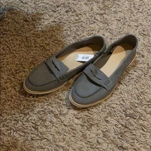 BRAND NEW! Grey Gap Loafer shoes
